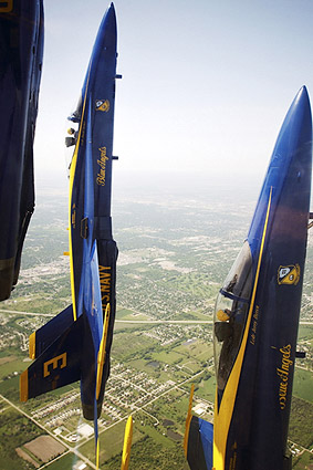 Navy F-18 Blue Angels Vertical Formation Photo Print