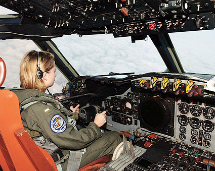 Navy P-3 / P3-C Orion Cockpit and Pilot Photo Print