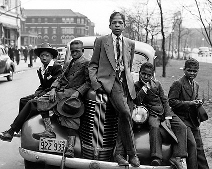 Negro Boys Easter Morning in Chicago 1941 Photo Print