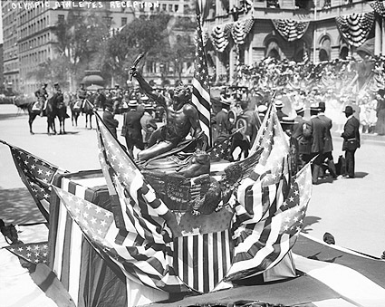 New York City Hall Olympic Trophy 1908 Photo Print