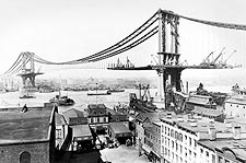 New York City Manhattan Bridge Construction Photo Print for Sale