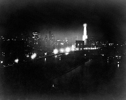 New York City Skyline Brooklyn Bridge 1919 Photo Print