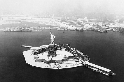 New York City Statue of Liberty After Snow Photo Print
