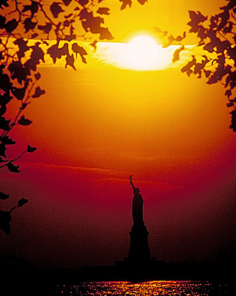 New York City Statue of Liberty at Sunset Photo Print