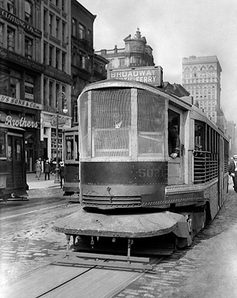 New York City Streetcar 1920s Photo Print