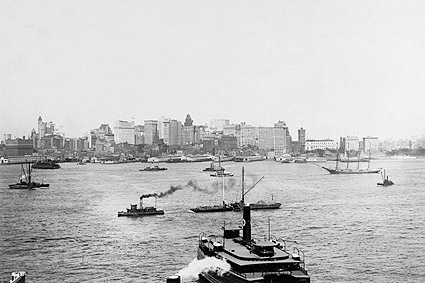 New York City Waterfront w/ Boats 1905 Photo Print