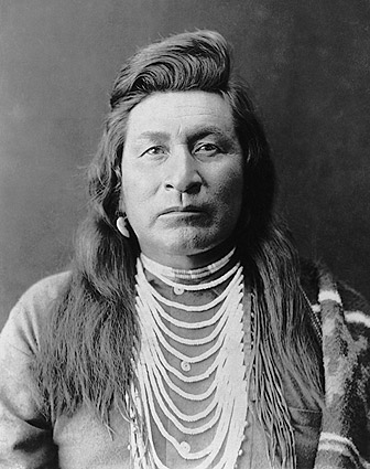 Nez Perce Indian Man Edward S. Curtis 1899 Photo Print