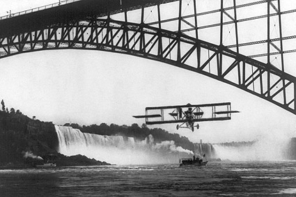 Niagara Falls Bridge Lincoln Beachey Flight Photo Print