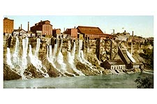 Niagara Falls Mills Viewed From Canada 1900 Photo Print for Sale