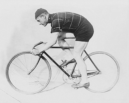 Norman Anderson & Racing Bicycle Photo Print
