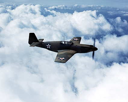 North American P-51 Mustang Fighter WWII Aircraft Photo Print