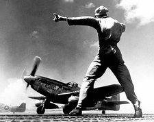 North American P-51 Take Off Iwo Jima Photo Print