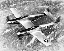 North American P-82 Twin Mustang in Flight Photo Print