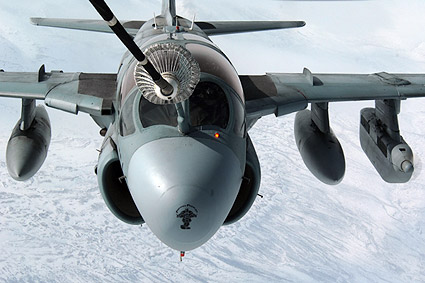 Northrop Grumman EA-6B Prowler Refueling In Flight Photo Print