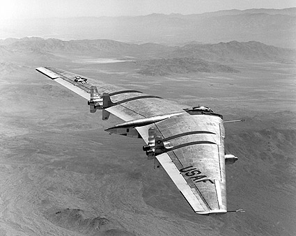 Northrop YB-49 Flying Wing in Flight Photo Print