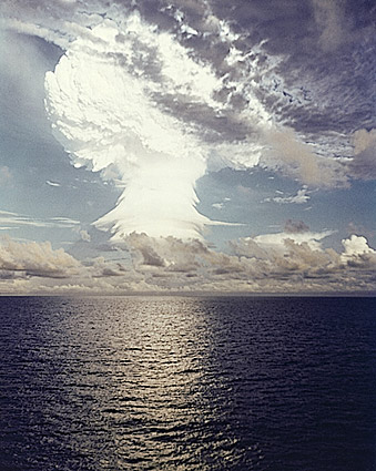 Nuclear Bomb Atmospheric Testing in Pacific Photo Print