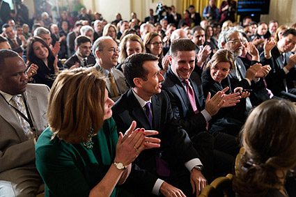 Obama Senior Advisor David Plouffe at East Room Ceremony Photo Print
