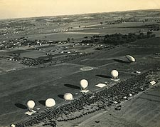 Observation Balloons and Airship at Base in France WWI Photo Print for Sale