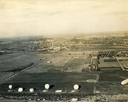 Observation Balloons at Base in France WWI Photo Print