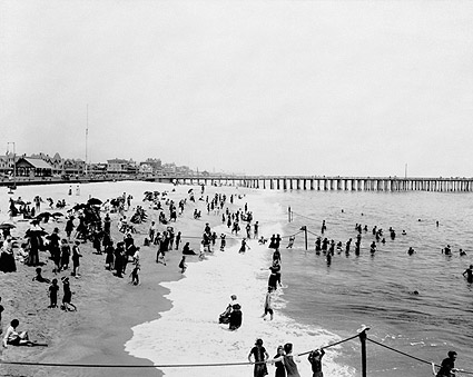Ocean Grove Beach New Jersey Seashore 1904 Photo Print