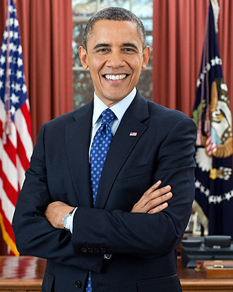 Official Presidential Portrait of Barack Obama 2012 Photo Print