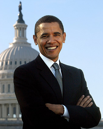 Official U.S. Senate Portrait of Barack Obama Photo Print