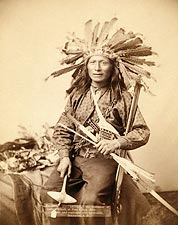 Oglala Sioux Indian Little in Headdress Photo Print for Sale