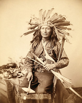 Oglala Sioux Indian Little in Headdress Photo Print