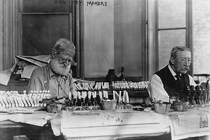 Old New York Toymakers Making Toys 1915 Photo Print