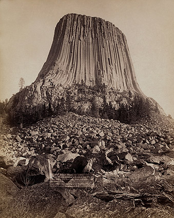 Old West Devil's Tower Monument 1890 Photo Print
