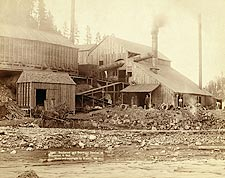 Old West Smelter in Deadwood, South Dakota 1890 Photo Print for Sale