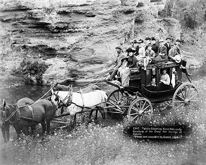 Old West Stage Coach, Dakotas 1889 Photo Print