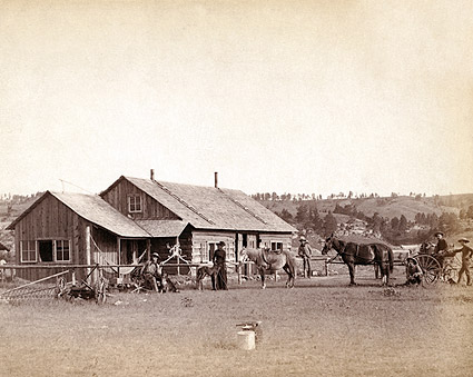 Old West Western Ranch House 1888 Photo Print
