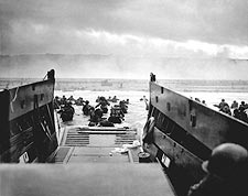 Omaha Beach US Troops WWII D-Day 1944 Photo Print for Sale