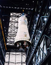 Overhead Crane Mating Apollo 10 and Saturn V NASA Photo Print for Sale