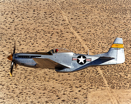 P-51 Mustang Restored in Flight Photo Print