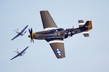 P-51 Mustang WWII Aircraft Janie in Flight Photo Print