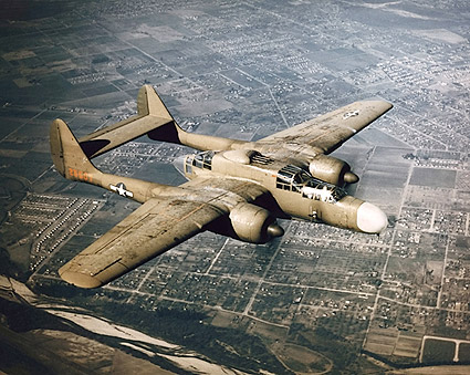 P-61 Black Widow in Flight US Air Force Photo Print