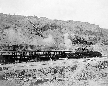 Panama Canal Construction Work Train 1910 Photo Print