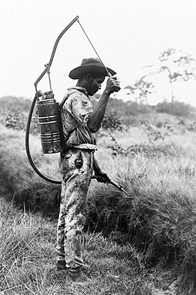 Panama Canal Worker Spraying Mosquitoes Photo Print