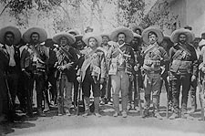 Pancho Villa with Generals Mexican Revolution  Photo Print for Sale