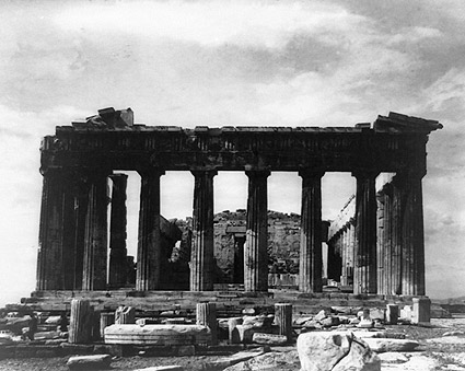 Parthenon Acropolis Athens Greece 1890s Photo Print