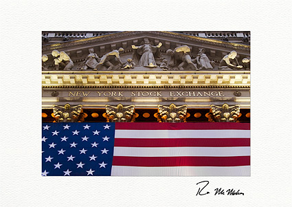 Patriotic New York Stock Exchange Boxed Greeting Cards