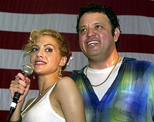 Paul Rodriguez & Brittany Murphy Patriotic Photo Print for Sale