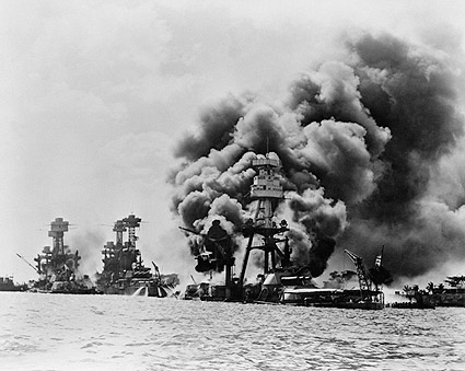Pearl Harbor Attack USS Arizona Battleship WWII Photo Print