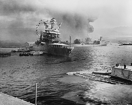 Pearl Harbor Under Attack Photo Print