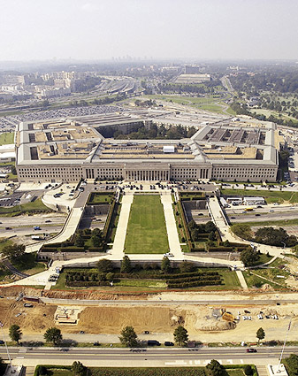 Pentagon & Parade Ground Wash. D.C. Aerial Photo Print