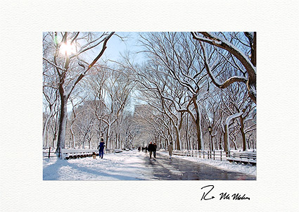 Personalized Literary Walk, Central Park New York City Holiday Cards