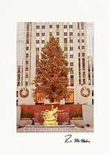 Personalized Rockefeller Center New York City Christmas Cards