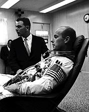 Pete Conrad Preparing for Gemini 5 Photo Print for Sale